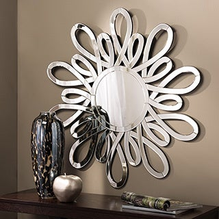 Amherst Contemporary Round Accent Wall Mirror