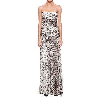 Halston Heritage Women's Snakeskin Print Gown