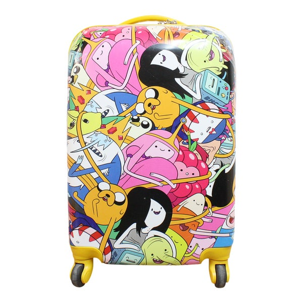 Adventure Time Crew Collage 30-inch Hardside Spinner Upright Suitcase