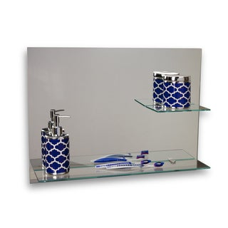 "Danya B. Sofia - 24 x 18"" Frameless Mirror with Shelves"