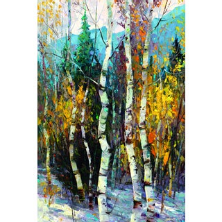 Dean Bradshaw 'Blues of Winter' Framed Canvas Wall Art