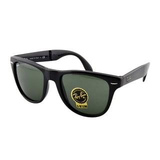 Ray-Ban RB4105 Folding Wayfarer Sunglasses - 601 Glossy Black (G-15XLT Lens) - 50mm