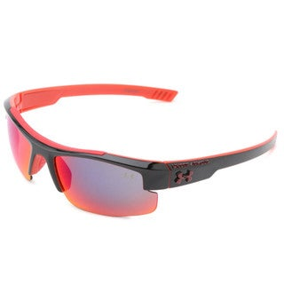 Under Armour Nitro L Youth Shiny Black, Red Infrared Multiflection Sunglasses