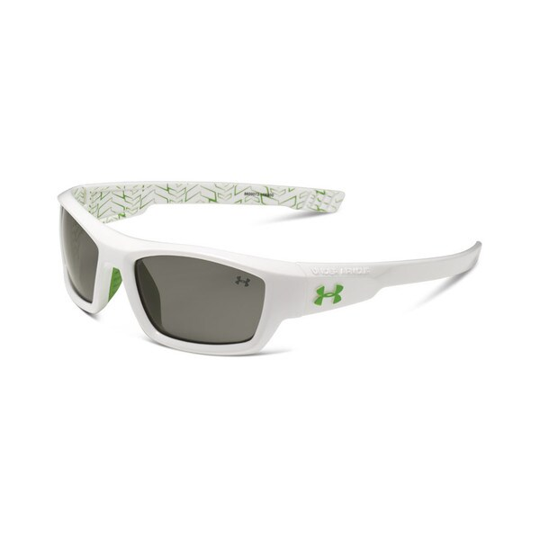 Under Armour ACE Youth Shiny White with Multiflection Sunglasses