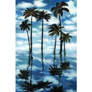 Sandy Doonan 'Mirrored Palms' Framed Canvas Wall Art