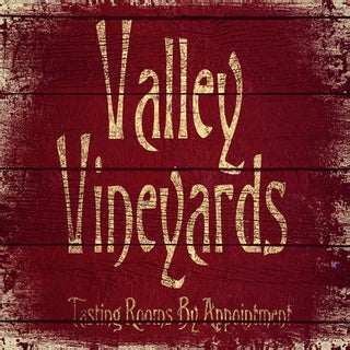 IHD Studio 'Vintage Signs - Valley Vineyards 2' Framed Canvas Wall Art