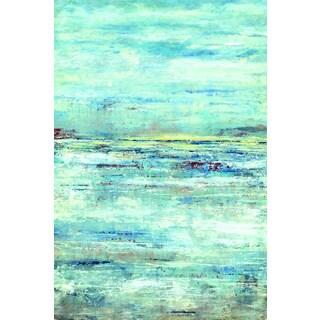 D. Davis 'Lakeside Clouds' Framed Canvas Wall Art