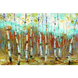 Dean Bradshaw 'Aspen Chorus' Framed Canvas Wall Art