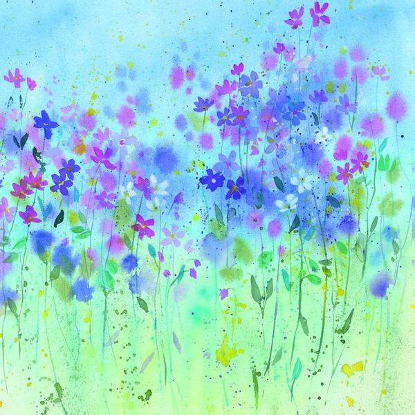 Rachel McNaughton 'Little Wild Flowers' Framed Canvas Wall Art