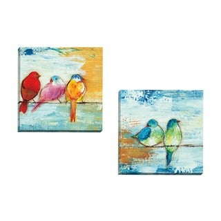 Portfolio Canvas Decor Three Bamboo Studio 'Song Birds II' Framed Canvas Wall Art (Set of