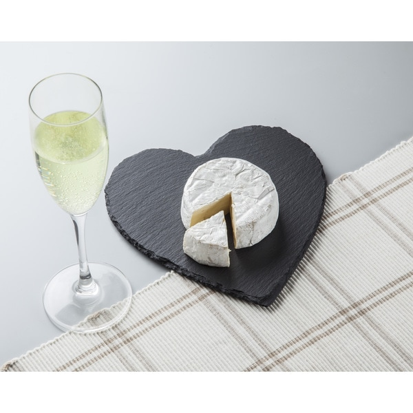 Heart Shaped Slate Cheese Board