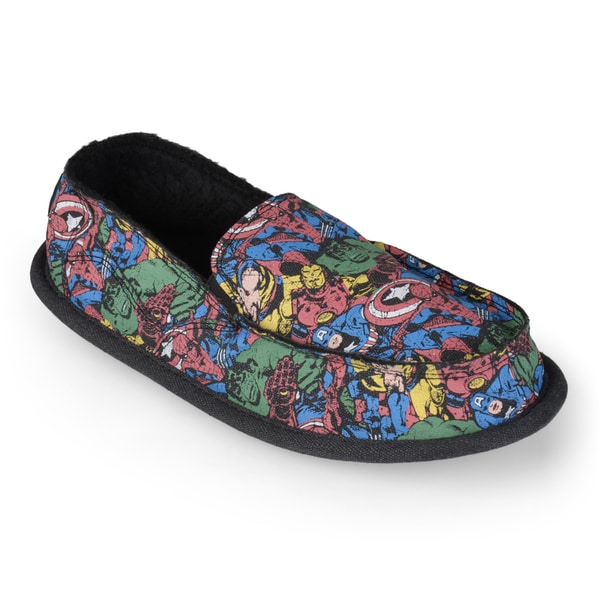 Marvel Men's Marvel Superhero Canvas Slippers