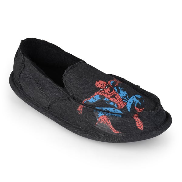 Marvel Men's Fleece Lined Spider Man Slippers