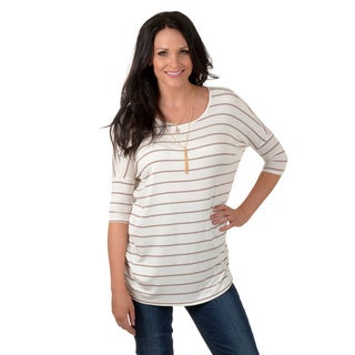 Timeless Comfort by Journee Women's Oversized Stripe Top