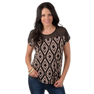 Timeless Comfort by Journee Women's Short-sleeve Print Top