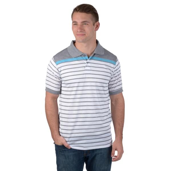 Boston Traveler Men's Short-sleeve Striped Polo Shirt