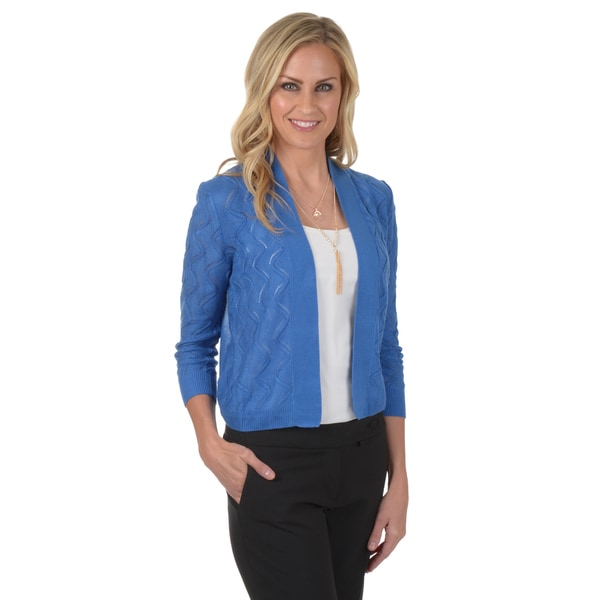 89th & Madison Women's Cropped Crochet Bolero Jacket