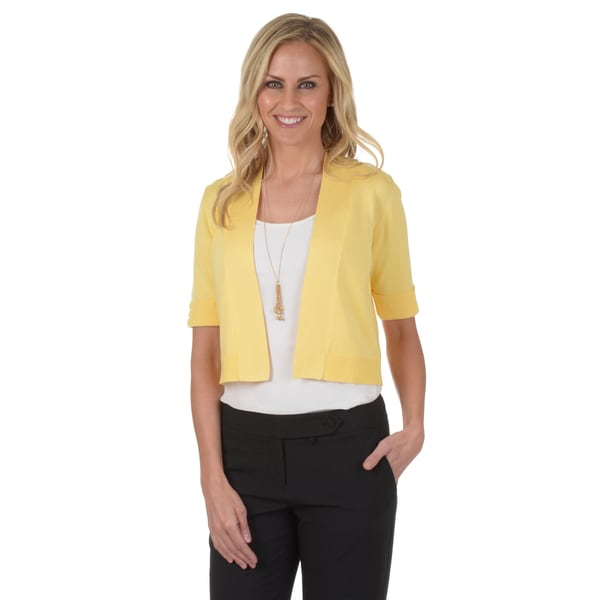 89th & Madison Women's Cropped Knit Bolero Jacket