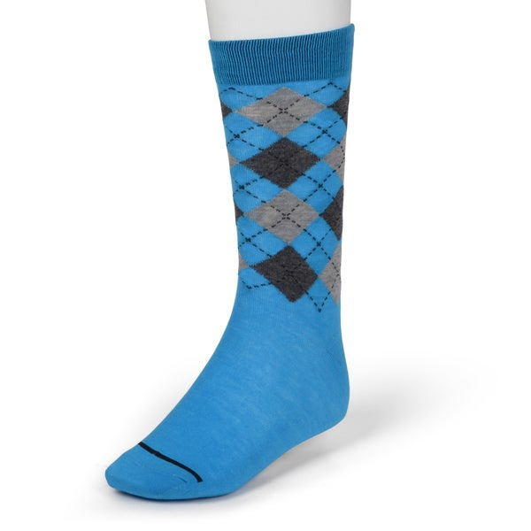 Beverly Hills Polo Club Men's Colorful Argyle Dress Socks