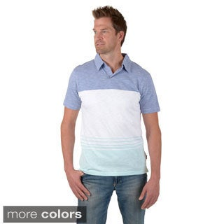 Vance Co. Men's Short-sleeve Striped Knit Shirt