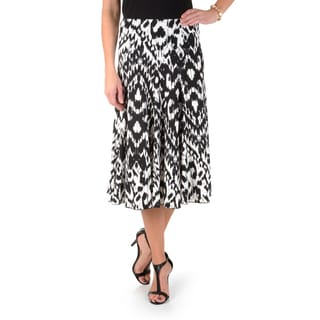 Timeless Comfort by Journee Women's Printed Flare Skirt