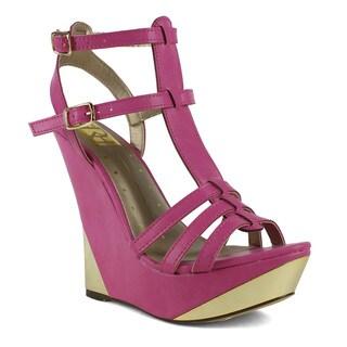 Fahrenheit Women's Linda-03 Wedge Sandal