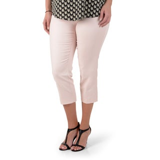 Counterparts Women's Slimming Flat Front Cropped Pants