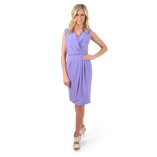 Timeless Comfort by Journee Women's Sleeveless Wrap Dress