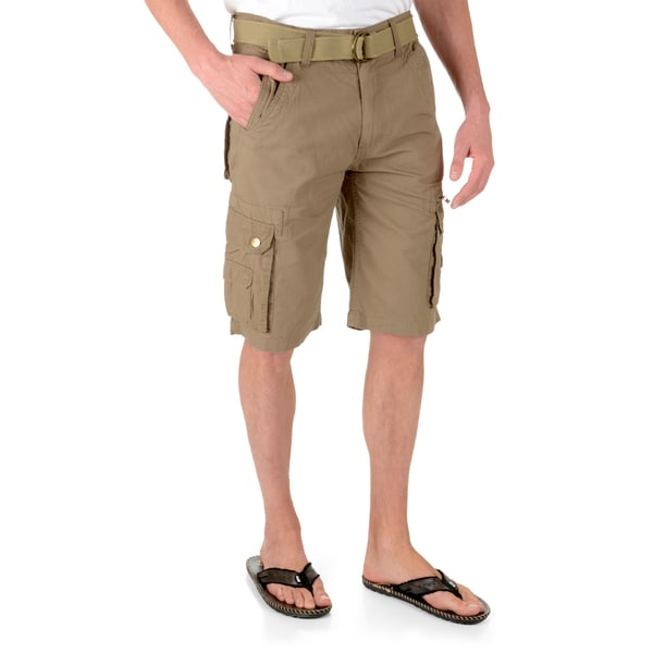 Vance Co. Men's Relaxed Fit Belted Cargo Shorts