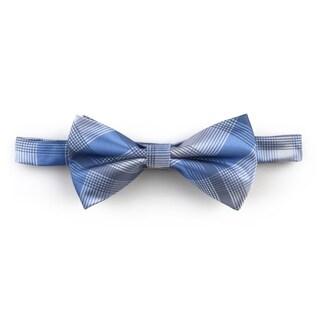 Vance Co. Men's Handmade Microfiber Bow Tie and Hanky Set