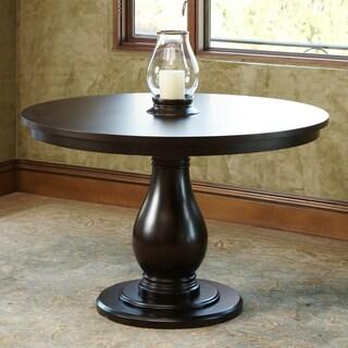 Abbyson Living Ibiza Round Wood Espresso Dining Table