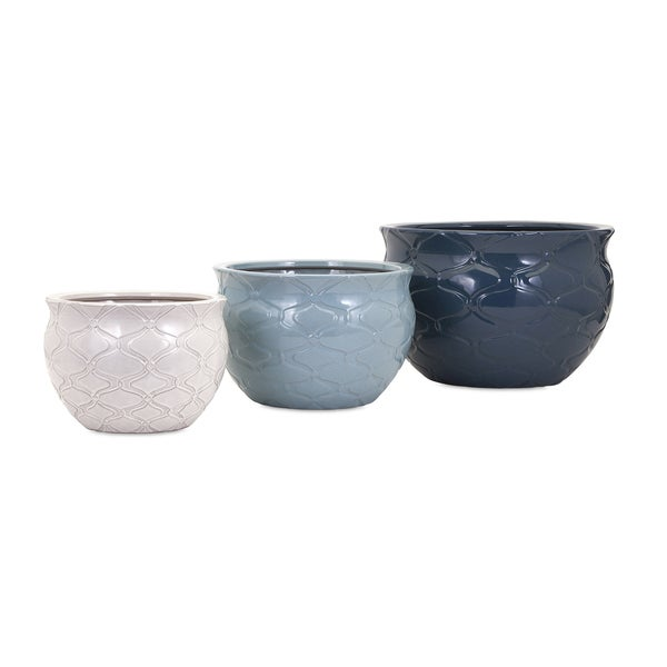 Jamil Earthenware Planters (Set of 3)