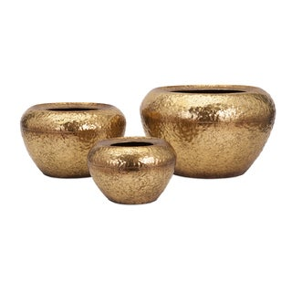 Vidalia Gold Leaf Planter (Set of 3)