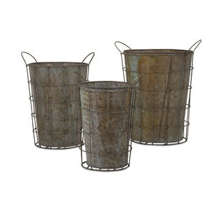 Leah Metal Flower Pots (Set of 3)