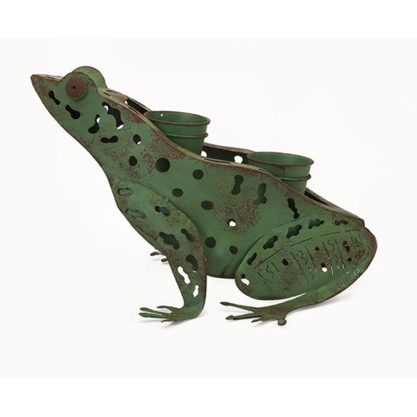 Ennis Metal Frog Planter