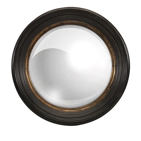 Manning Black Round Mirror