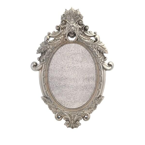 Nikki Chu Acaydia Silver Metallic Wall Mirror
