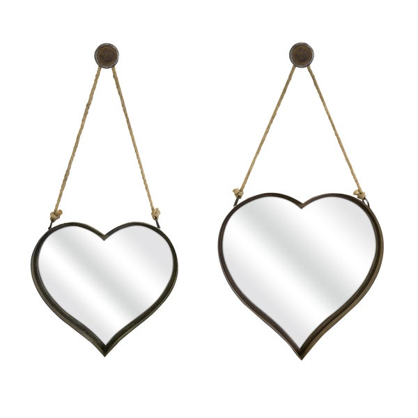 Heart Shape Wall Mirror (Set of 2)