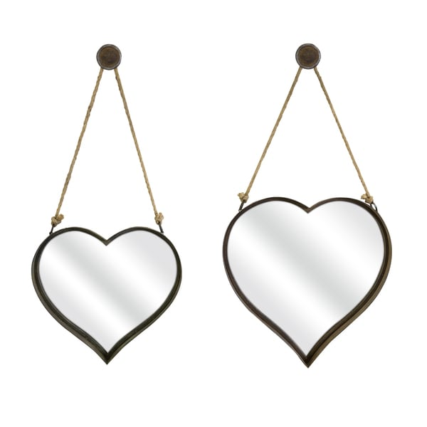 Heart Shape Wall Mirror (Set of 2)