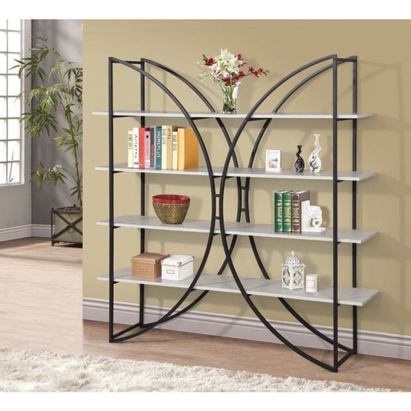 Melissa 65 inch book shelf 17291181 for Furniture of america nara contemporary 6 shelf tiered open bookcase