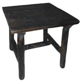 Burnt Brown Log Side Table