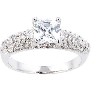 Simon Frank Collection Princess-cut Cubic Zirconia Bridal Inspired Ring