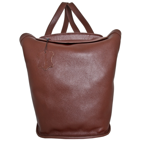 Leatherbay Roma Small Brown Leather Fashion Backpack