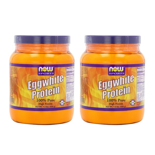 NOW Foods 2-pound Eggwhite Protein Powder (Pack of 2)