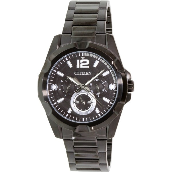 Citizen Men's AG8335-58E Black Stainless-Steel Quartz Watch