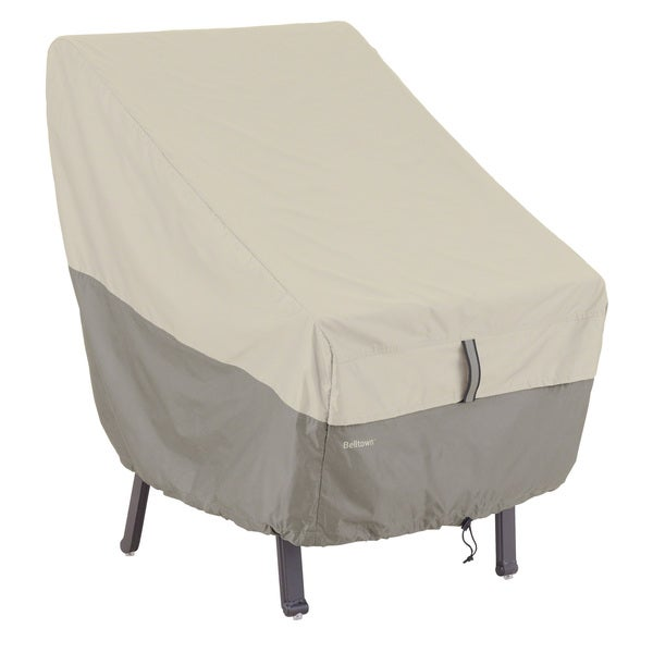 Classic Accessories Belltown Grey Highback Patio Chair Cover Ove