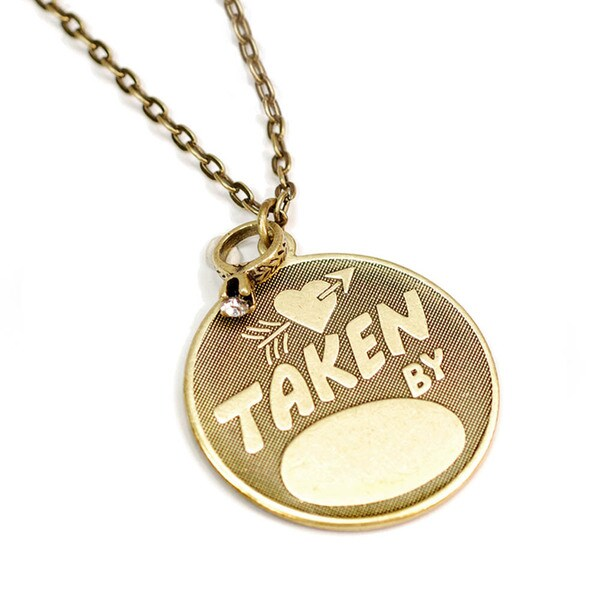 Sweet Romance Pewter 'Taken By' Necklace