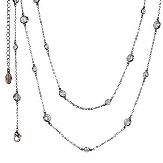 Sweet Romance Cubic Zirconia Diamonds By The Yard Layering Necklace