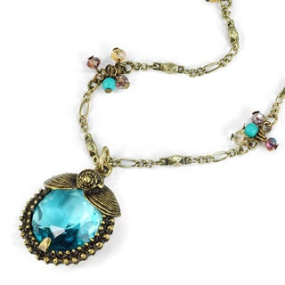Sweet Romance Ocean Seashells Crystal Pendant Necklace