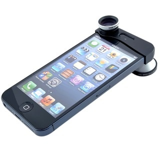 Silver 3-in-1 Wide Angle/ Micro/ 180-degree Fish Eye Camera Lens Kit for iPhone 5/ 5S